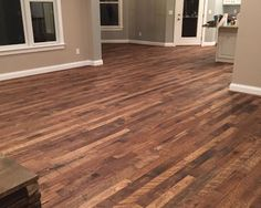 Organic Tulsi floor installation project in Crittenden KY. These showcase floors were purchased and installed by The Flooring Center of KY. Types Of Wood Flooring, Solid Wood Flooring, Grey Hardwood Floors, Living Room Kitchen, Kitchen Flooring, Organic, Rustic, House, Florence