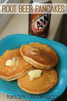 Root Beer Pancakes   Sweet, fluffy pancakes that taste like a root beer float in breakfast form.