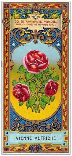 Vintage Roses Label