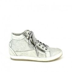 genuine leather looks vintage lace up sneaker with trim snake effect . Rubber sole and removable 3 cm high wedge on inside and double zip