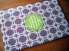 Monogrammed Glass Cutting Board