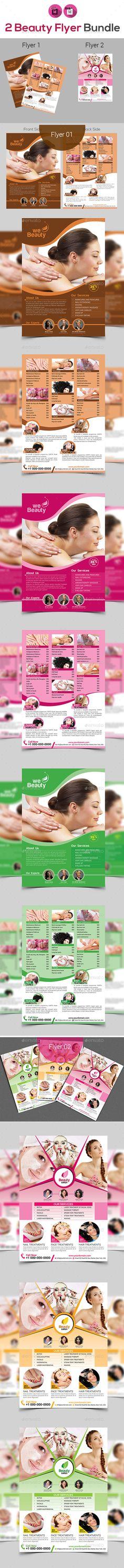 Beauty Spa Salon Flyer Bundle V3 - Flyers Print Templates