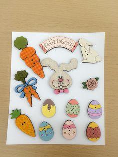 Botões de Páscoa feitos à mão!