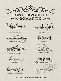 Resultado de imagem para romantic font