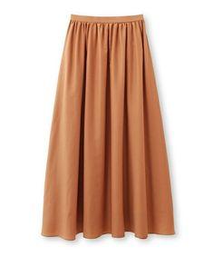INDIVI(インディヴィ)の「(洗える)スパンローンフレアマキシスカート(スカート)」|詳細画像