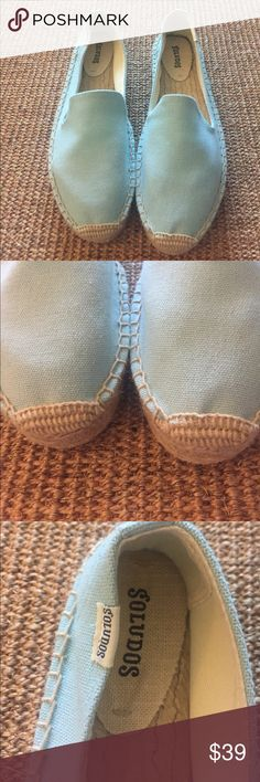Brand new! Soludos espadrilles Sz 10 Robin's egg blue with espadrille platform. New and never worn! I have the same listing in pink too- happy shopping! Soludos Shoes Espadrilles