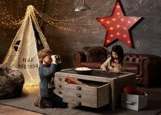 Check out these cool, kid-friendly playroom ideas from the Knoxville News Sentinel. A Restoration Hardware Baby & Child's Weller and Mason play table offers a modern take on a traditional kids' play table.