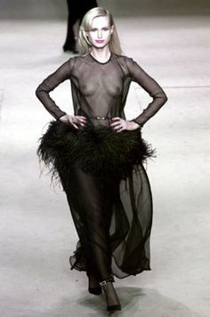 Saint Laurent Spring 2002 Couture Fashion Show - **Sheer, 1968**