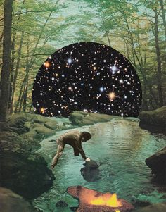 Forest dream by Mariano Peccinetti Collage Art on Flickr.