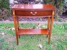 Vintage Mahogany Wood Console Foyer Hall Table w/ Drawer #Traditional #unbranded