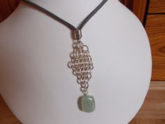 Beryl nugget and chainmaille pendant £10.00