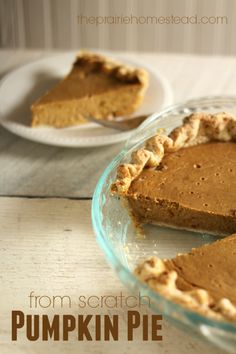 A from-scratch pumpkin pie recipe that uses honey and NO canned milk!