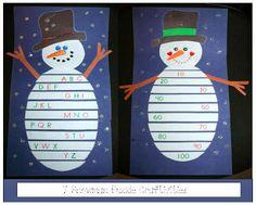 Snowman Puzzles #FREEBIE #January