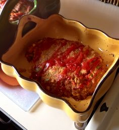 Meatless meatloaf my daughter made
