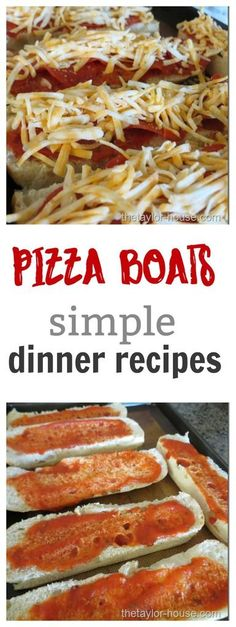 These Pizza Boats are going to be your NEW go-to recipe when you're in a hurry! Do your kids love and request pizza all the time? Do you feel like you are always making a new pizza recipe but have gotten burnt out with all the same ideas?