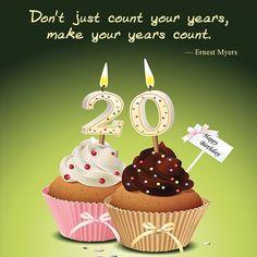 20th birthday | Happy 20th Birthday Quotes. QuotesGram