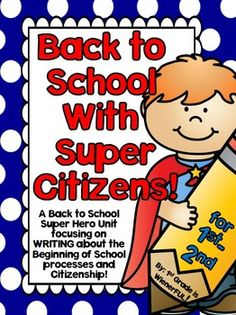 FREEBIE in PREVIEW!  Back to School with SUPER Citizens for 1st-2nd Grades (Super Hero theme) This SUPER COOL packet has printables dealing with:  Back to School for 1st and 2nd grades, Rules, Citizenship, Character Traits, Bullies, Simple Researching skills with current and past Heroes, and has Reading Response printables!  2 Units rolled into one packet!!!! SUPER AWESOME!