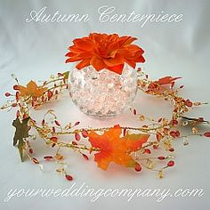 Place colorful silk fall leaves on tabletops or have your flower girl sprinkle them as she walks down the aisle. Use in wedding favors, centerpieces or attach to tulle draping. Fish Bowl Centerpiece Wedding, Fall Wedding Centerpieces, Garland Wedding, Wedding Table Centerpieces, Centerpiece Decorations, Diy Wedding Decorations, Wedding Favors, Wedding Ideas, Wedding Stuff