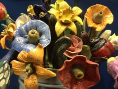 Ceramic Flowers from Georgie's Glazes~
