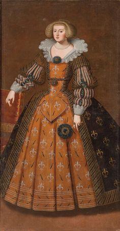 "tiny-librarian: "" Anne of Austria, Queen of France and Navarre. Mode Renaissance, Renaissance Costume, Elizabeth Bathory, Baroque Fashion, French Fashion, Historical Costume, Historical Clothing, Elizabethan Fashion, Elizabethan Era"