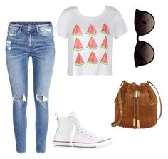 """Summer dayz"" by katelynn-lyall on Polyvore featuring Ally Fashion, H&M, Converse, Ray-Ban and Vince Camuto"