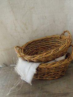 vintage laundry baskets