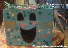 Cabezudos para las fiestas del pueblo - 4 años. Kids craft. Box. Stickers
