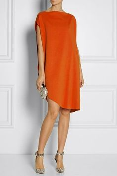Calvin Klein Collection Tamara draped piqué dress - Love everything about this outfit. Dress Skirt, Dress Up, Draped Dress, Look Fashion, Womens Fashion, Fashion Trends, Short Dresses, Summer Dresses, Summer Wedding Outfits