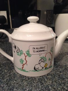 My Snoopy teapot must be about 30 years old, my dad bought it for me cos I hated mornings lol xx