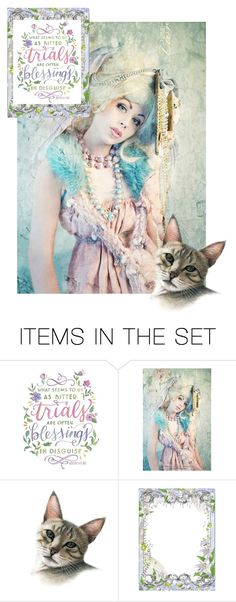 """""""Blessings in Disquise ❤ Oscar Wilde"""" by catfabricsandbuttons ❤ liked on Polyvore featuring art"""
