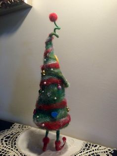Nadel gefilzt Weihnachten Märchen Weihnachtsbaum von DreamsLab3
