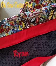 custom comic bedding set — crib, toddler, twin, queen, king   geek