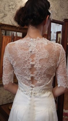 Lace and net dress Back view