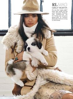 Polo Ralph Lauren / I even like her accessories- the puppy!