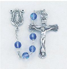 Regina's Catholic Gifts - Tin Cut Crystal Caribbean Blue