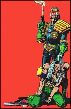 Judge Dredd by Brian Bolland