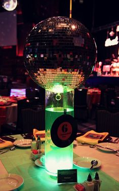 Our Disco Gala centerpieces!Shannon Berrey Design Blog