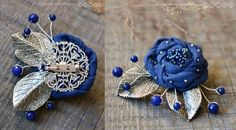 Купить или заказать Брошь из ткани «Синяя роза» в интернет-магазине на Ярмарке Мастеров. Небольшая, изящная брошь, выполненная из темно-синей ткани (японский хлопок) и расшитая мельчайшим японским бисером. Роза украшена двумя серебристыми листиками и небольшими веточками с ярко-синими ягодками агата. Брошечка совсем не большая и не тяжелая. Ею можно украсить как верхнюю одежду: куртку, пальто или шапочку, так и ваше любимое платье или блузку.