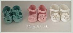 Manos de hadita: Zapatitos de bebé a crochet