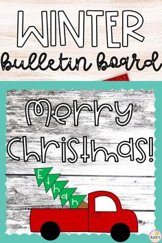 Are you looking for a Christmas bulletin board set or craft idea? This lesson is great for Preschool, Kindergarten, First or even Second grades. Students will enjoy cutting and pasting a truck with a Christmas tree in the back. The tree can be used for spelling students' names. This lesson makes an adorable display for classroom doors, hallways or bulletin boards once completed. Teaching Kindergarten, Preschool Kindergarten, Preschool Crafts, Kids Crafts, Teaching Resources, First Grade Classroom, Primary Classroom, Kindergarten Classroom, First Grade Crafts