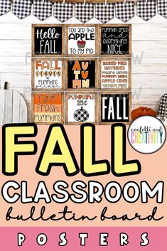 Get your classroom ready for the fall season with these printable classroom posters for you bulletin board! Use these posters to decorate your classroom walls, classroom door, and even your homeschool classroom! #fallclassroom #classroomposters #classroomdecor Fall Classroom Decorations, Classroom Wall Decor, Classroom Walls, Classroom Design, Inspirational Bulletin Boards, Inspirational Classroom Posters, Printable Classroom Posters, Teacher Bulletin Boards, Birthday Charts