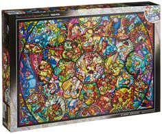 Amazon.com: Disney Stained Art Jigsaw Puzzle[1000P] All Stars Stained Glass (DS-1000-764): Toys & Games