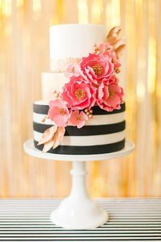 Love this cake! Modern Glam Kate Spade Birthday Party via Kara's Party Ideas | KarasPartyIdeas.com (22):