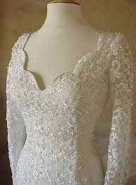 Image result for wedding dresses with solid sleeves