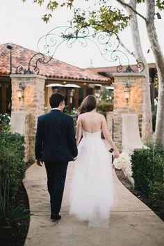 Day of Gal Wedding reception romantic