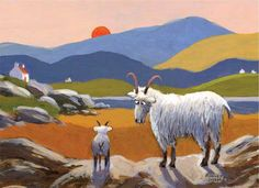 Browse by Image Sheep Art, Irish Art, Baby Owls, Naive Art, Whimsical Art, Farm Animals, Pet Birds, New Art, Folk Art