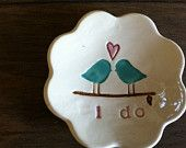 Bridesmaids Gifts Wedding Favors  Love Bird Ring Dish- Bliss- Set of 6. $90.00, via Etsy.