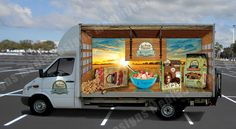 Truck Wrap Design for a Mercedes Benz Box truck