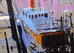 Tony Allain, ink & pastel on sugar paper