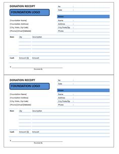 Donation Receipt Cash and Items - Are you looking for Donation Receipts to send to your donors as proof for receipt of charitable monetary or items donation? Download this Donation Receipt template